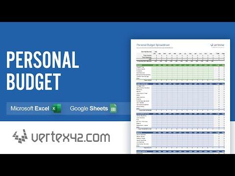 Personal Budget Spreadsheet Demo