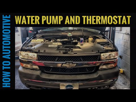 How to Replace the Water Pump and Thermostat on a Chevy 2500HD with 8.1L Engine