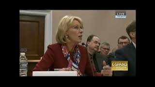 Rep Lee Demands Answers from Ed Sec Betsy DeVos  (part 1)