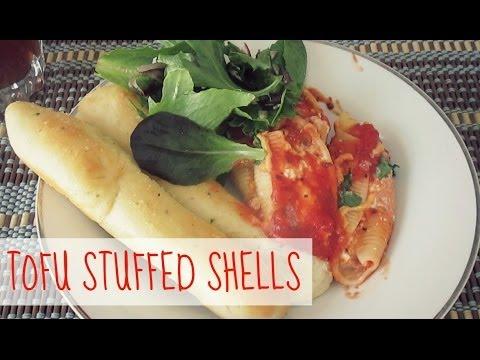 Tofu Cottage Cheese Stuffed Shells