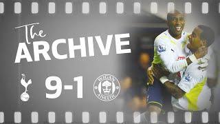 THE ARCHIVE   SPURS 9-1 WIGAN   Defoe scores FIVE in Spurs biggest ever top flight win!