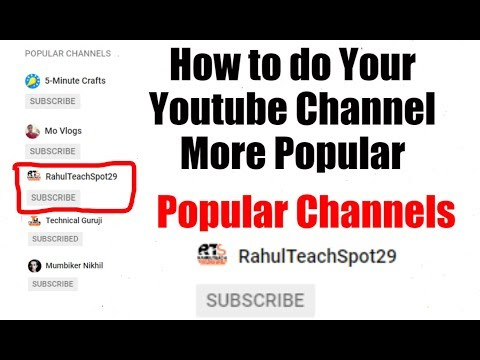[Hindi-हिन्दी] How to do Your Youtube Channel More Popular