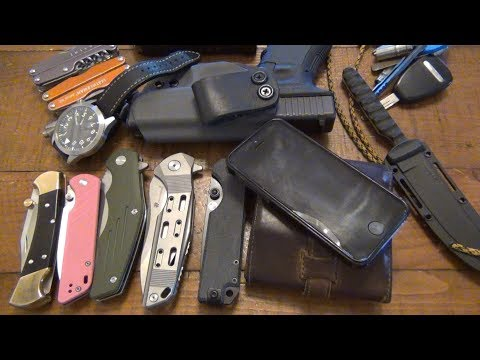 EDC Update: New Month & New Setup...Lots Of New Knives (May 2018)