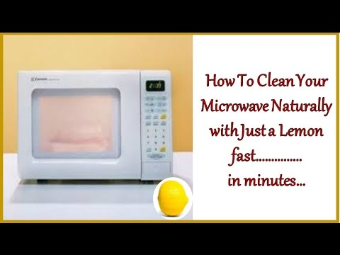 How To Clean Your Microwave Naturally with Just a Lemon fast…………… in minutes…