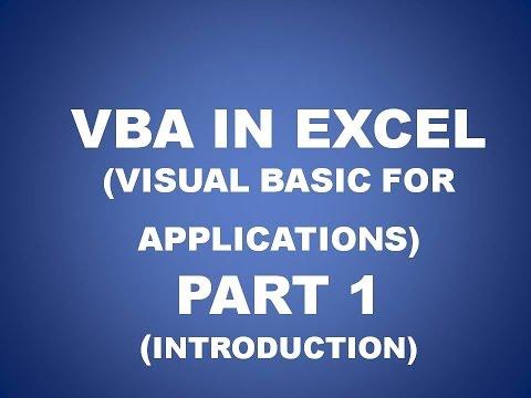 VBA in Excel for Beginners PART 1, Future Key Solutions, Rajpura (HINDI)