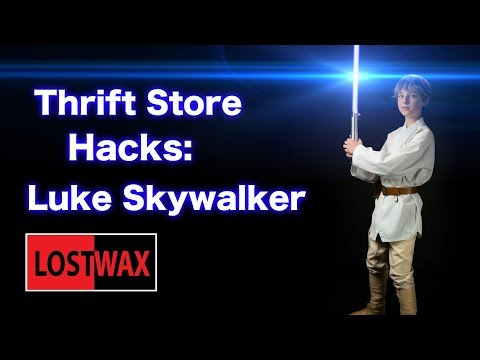 Thrift Store Hacks: How to Make a  Luke Skywalker Costume