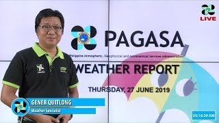 Download Public Weather Forecast Issued at 4:00 AM June 27, 2019 Video