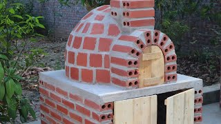 How to Build Wood Fired Brick Pizza Oven in my village ( HD )