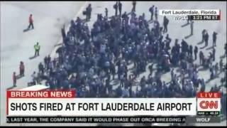 Multiple people dead shooting at Ft  Lauderdale Hollywood Florida Airport Raw Footage
