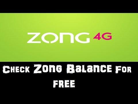 Check Zong Balance free