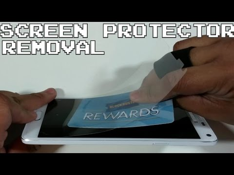 How To remove a Screen Protector from phone