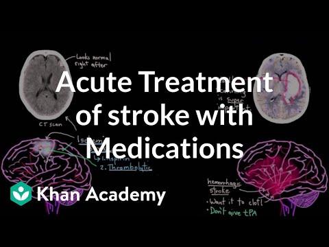 Acute treatment of stroke with medications   NCLEX-RN   Khan Academy