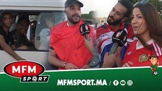 من ملعب السلام.. فرحة المغاربة والمصريين بالانتصار ومشجع مصري يؤكد: كنعشق المغرب من 98