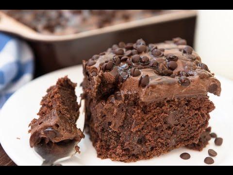 Chocolate Poke Cake Recipe - SO chocolatey! So moist!
