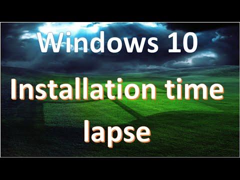 Windows 10 Installation Time Lapse