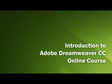 Dreamweaver CC Introduction Class   Part 4