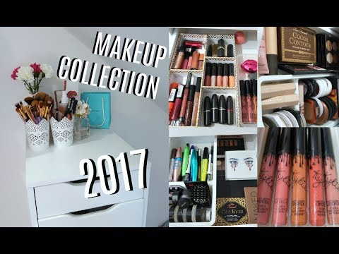 17 YEAR OLD'S MAKEUP COLLECTION + STORAGE 2017💋 Kim Mann