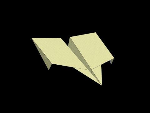 Barracuda Paper Airplane: 3D Folding