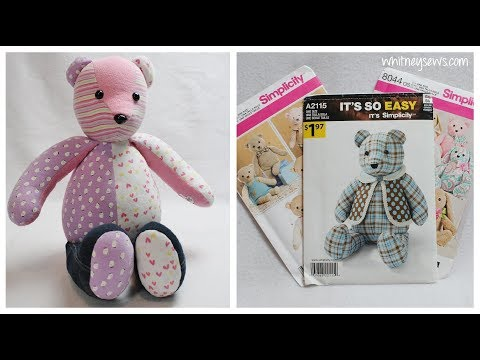 Choosing the BEST Memory Bear Pattern | Memory Bear Sewing Series 🐻 | Whitney Sews GIVEAWAY CLOSED