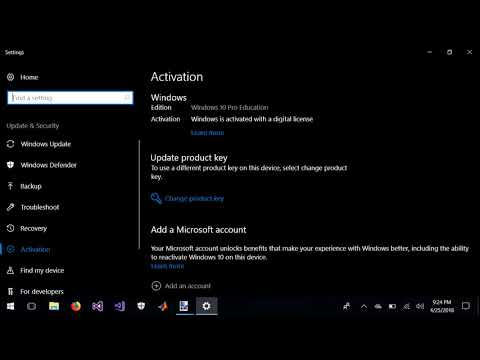 how to Link Windows 10 Digital License to Microsoft Account- Haier Y11c