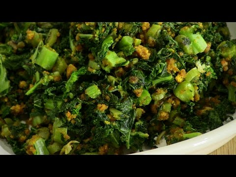 Kale Subzi - Indian Vegetarian Recipe