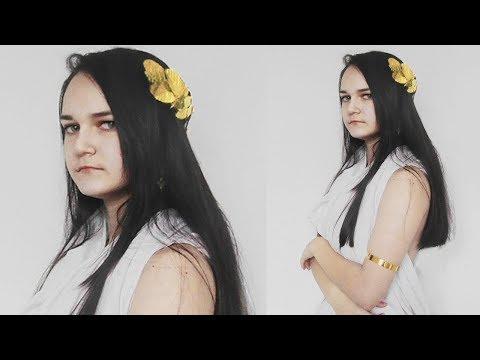 DIY *   Greek Goddess Costume * How to make a Greek Leaf Crown Headband *  Laurel Wreath * Tutorial