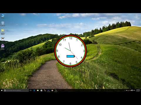 how to make analog clock  with battery app in c#