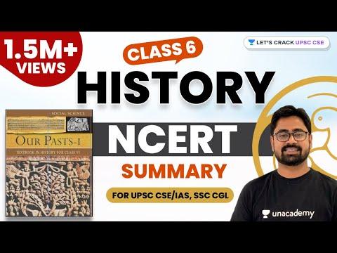 Class 6 History NCERT Summary (1/2) (Hindi) for UPSC CSE/IAS, SSC CGL