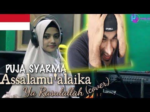 PUJA SYARMA - Assalamu'alaika (Cover)   INDIAN REACTION TO