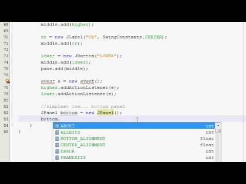Java GUI Tutorial 25 - Higher/Lower guessing game (Part 2 of 4)