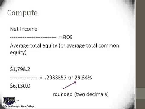 acct 2101 asset turnover & return on equity ratios