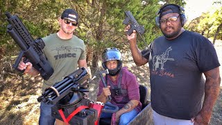 3 Extremely Unique Guns On a Scooter