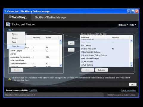 How to Backup Restore Data on BlackBerry