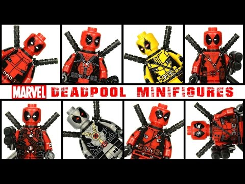Deadpool Gallery of Suits LEGO KnockOff Minifigures Set 3 w/ X-Force & X-Men
