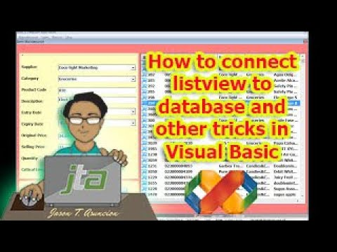 How to connect listview to database and other tricks in Visual Basic