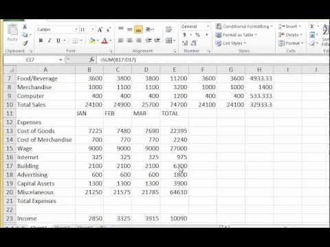 MS Excel Lab#1-Recalculation