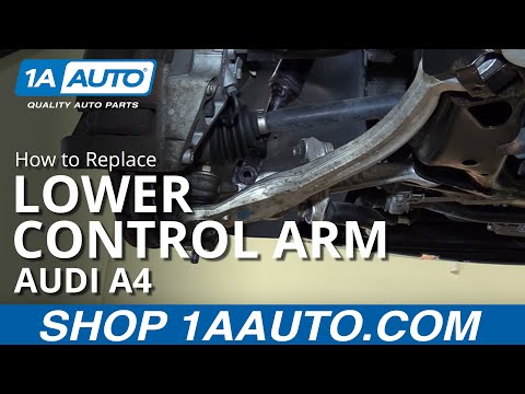 How to Install Replace Front Lower Rearward Control Arm 2003-08 Audi A4