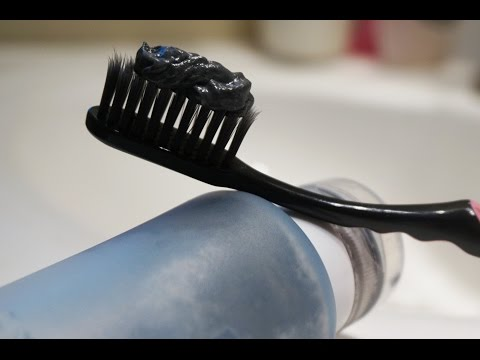 DIY Black Toothpaste to Whiten & Remineralize Teeth- Charcoal tooth whitener