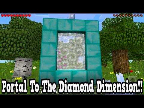 Minecraft Pe How To Make A Portal To The Diamond Dimension - Diamond Dimension Showcase!!!