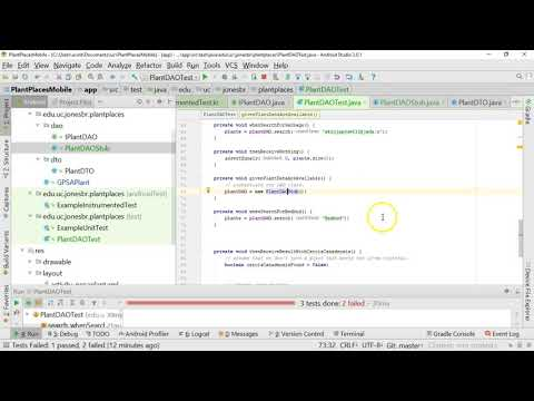 Make an Android TDD unit test pass by creating a stub