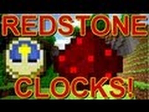 Minecraft | How to make a Redstone Clock / Repeater Video Tutorial