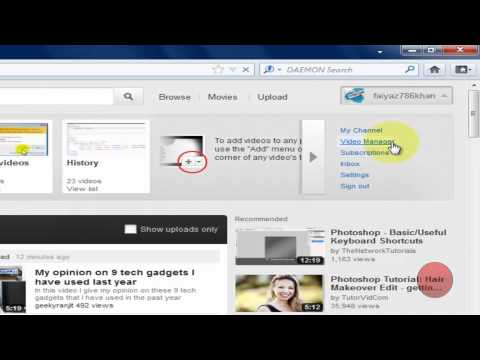 How to Remove a video from Favorites list on Youtube - 2012