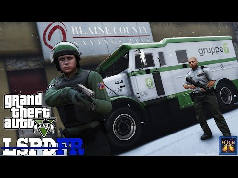 Gruppe 6 Armored Car Security Patrol -  Blaine County Snow Storm | GTA 5 LSPDFR Episode 298