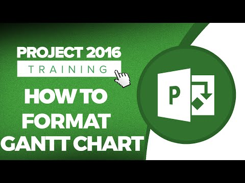 Microsoft Project 2016 Training - How to Format a Gantt Chart