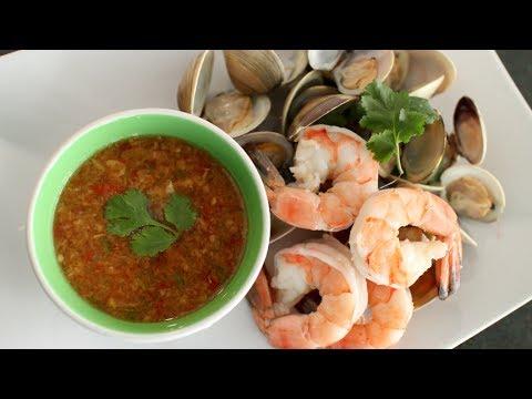 Seafood Dipping Sauce Recipe นำ้จิ้มซีฟู้ด - Hot Thai Kitchen