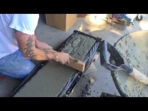 making a DIY (concrete curb)
