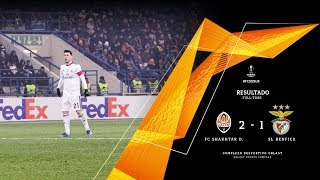 HIGHLIGHTS: FC Shakhtar 2-1 SL Benfica.