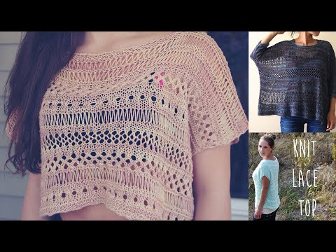 KNITTING TUTORIAL- EASY LACE TOP