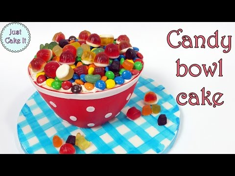 How to make candy bowl cake! Halloween dessert idea!