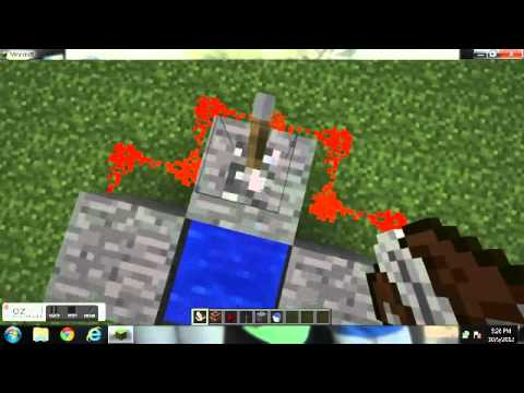 minecraft tutorial # 1 how to make a steve cannon
